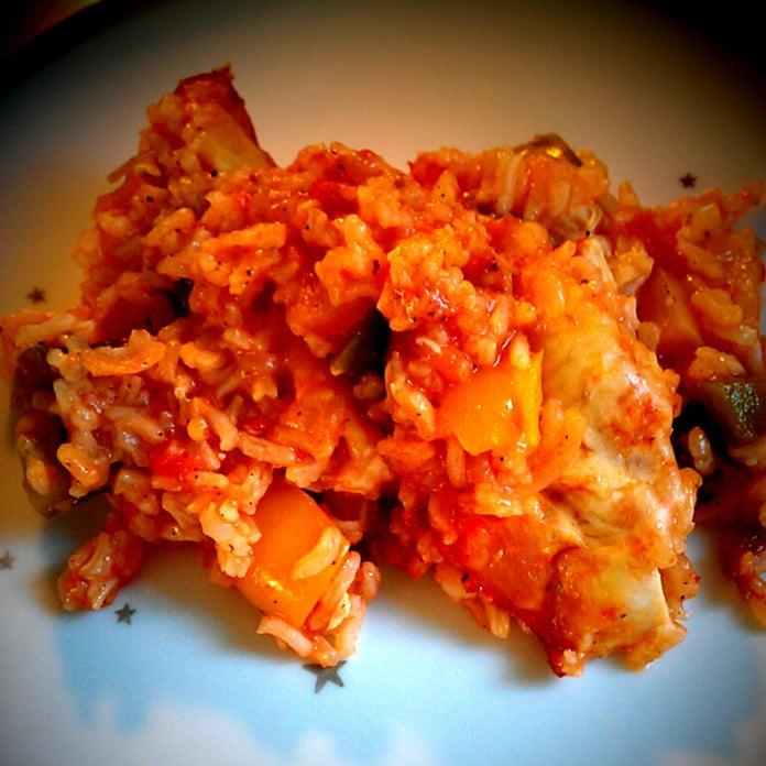 Mexicanske ris med kylling
