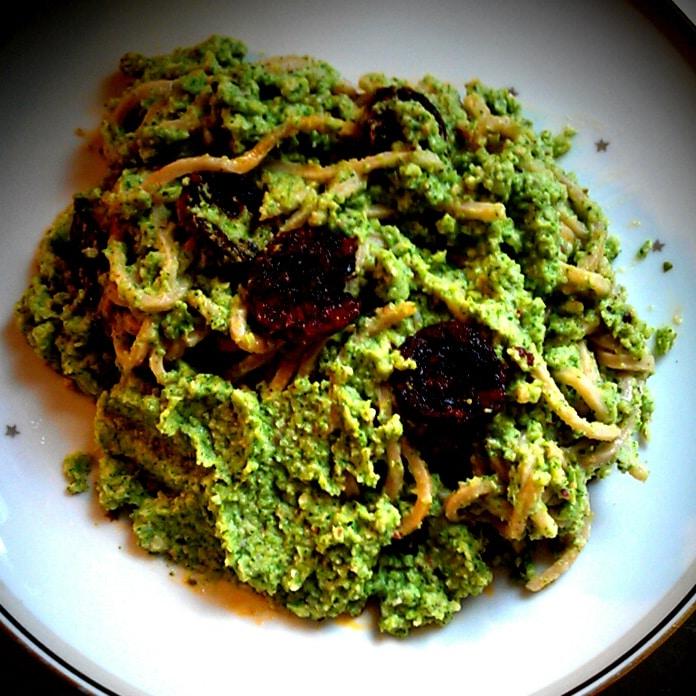 Broccolipuré og chorizo