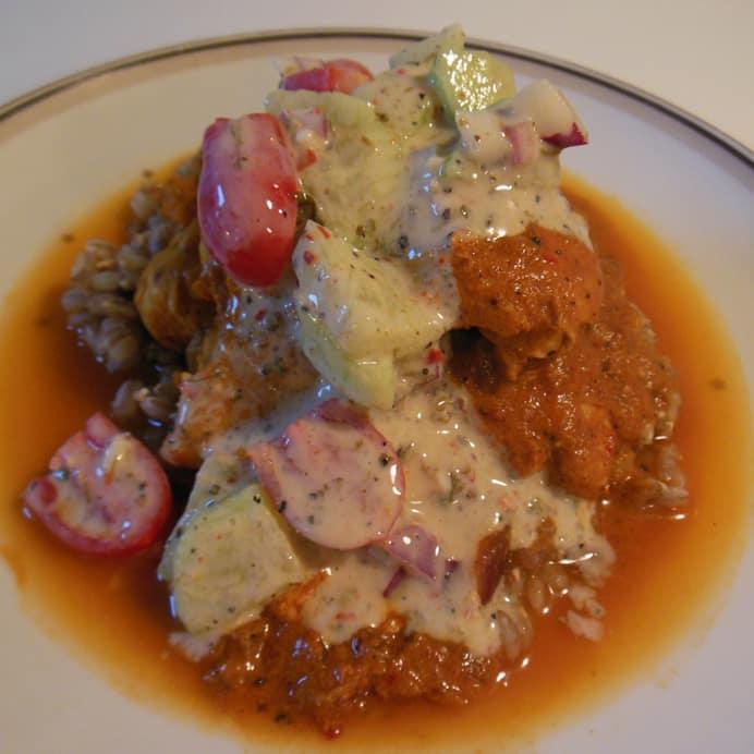 Chicken masala med raita