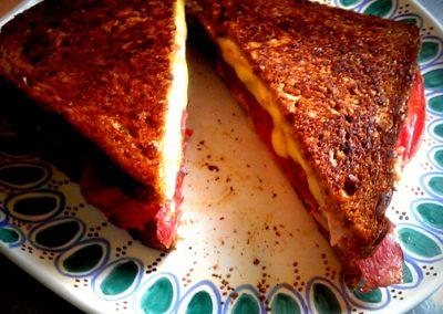 Grill toast (tømmermændsmad)