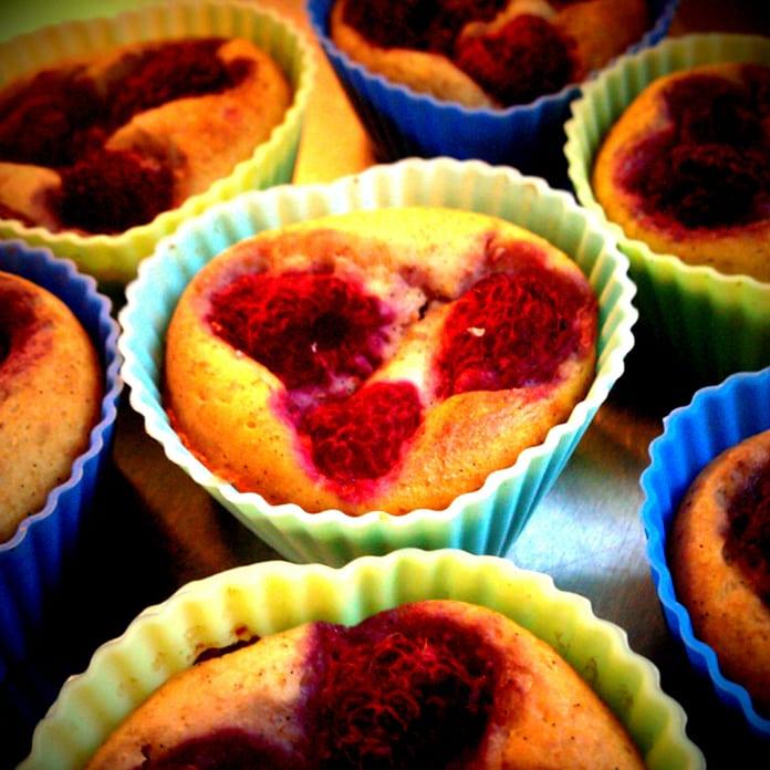 Hindbær-ricotta muffins (cheesecake)