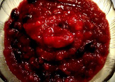 Æble-blåbærgrød