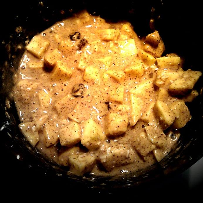 Æble-rosin-muffins - dejen
