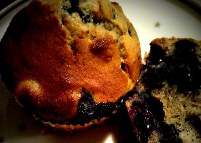 Blåbærmuffins med marcipan