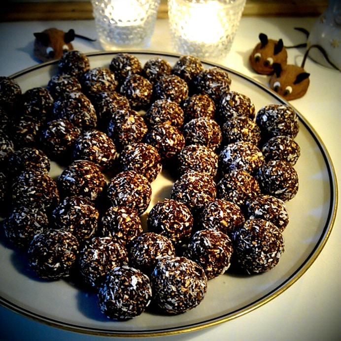 Havregrynskugler med blåbær marmelade