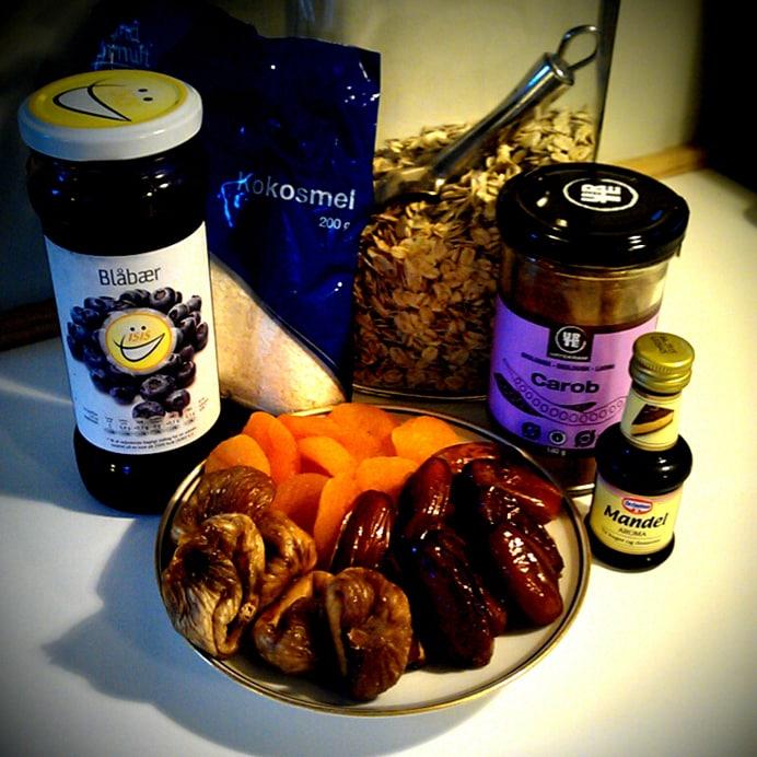Havregrynskugler - ingredienser