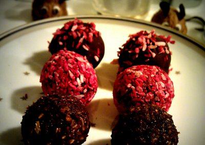 Hindbærhapsere – konfekt (grundmasse)