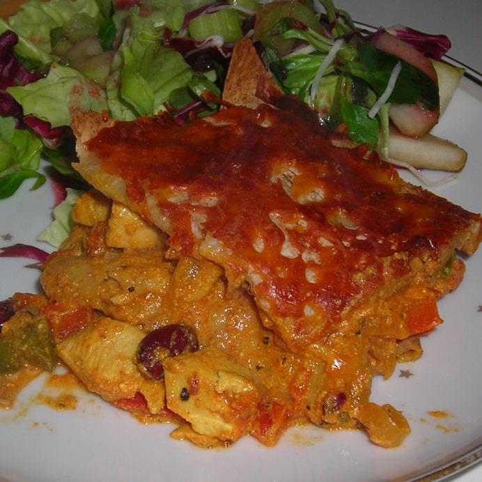 Mexicansk lasagne (uden pasta)