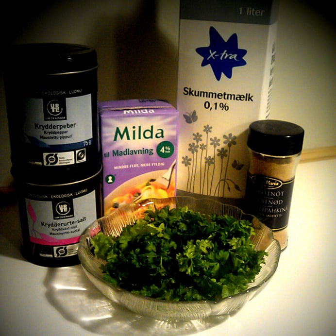 Persillesauce - ingredienser