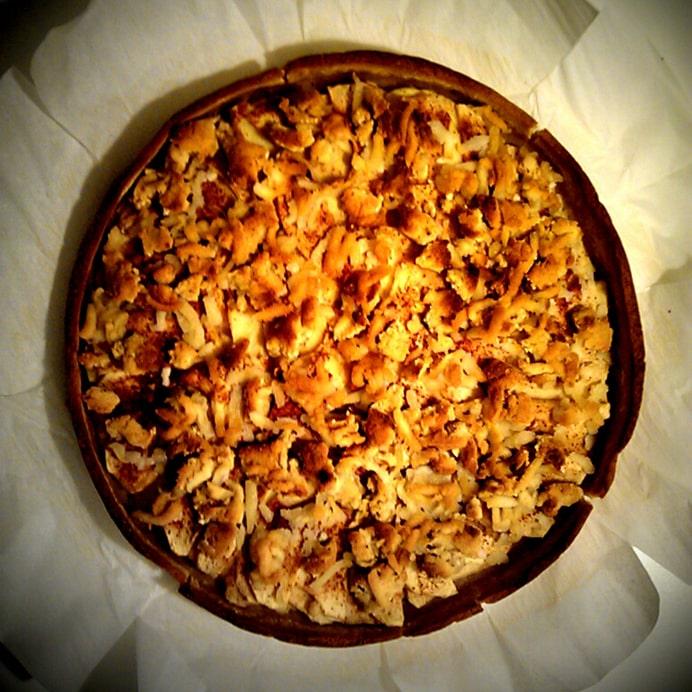 Æbletærte med mandelbund