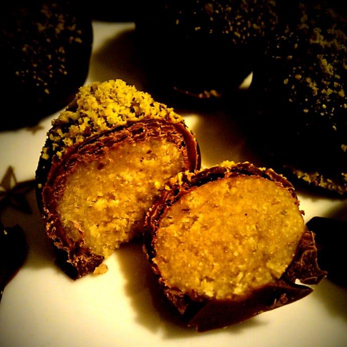 Protein-kugler med pistaciekerner