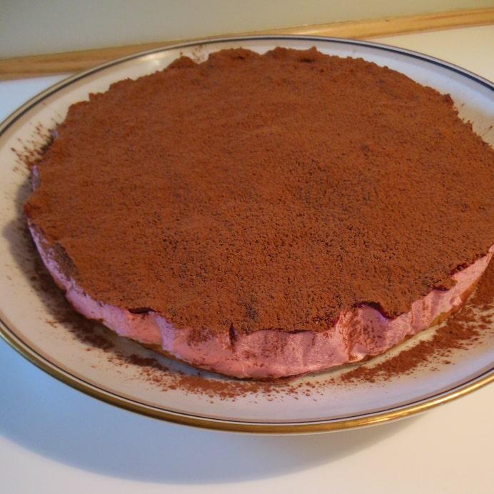 Hindbærkage - med kakaodrys