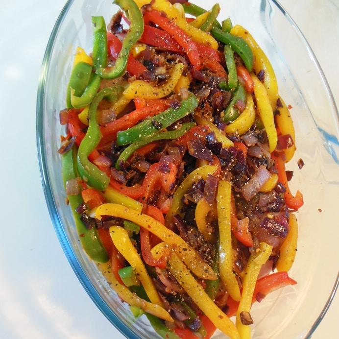 Torsk i fad - med stegte grøntsager