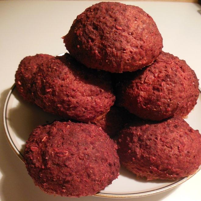 Rødbedeboller med chiafrø og fibre