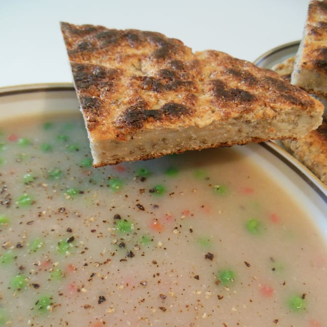 Suppe med pandebrød