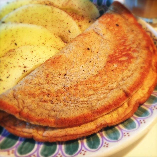Sød morgen-omelet