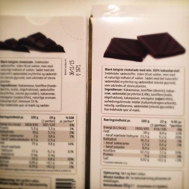 Easis, mørk belgisk chokolade