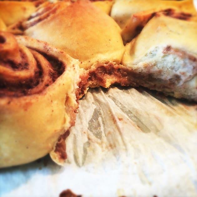 Æble-bryde-snegle med æble-chia topping
