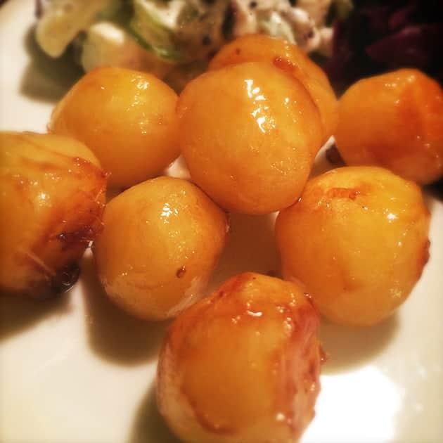 Brunede kartofler med FiberSirup (uden tilsat sukker)