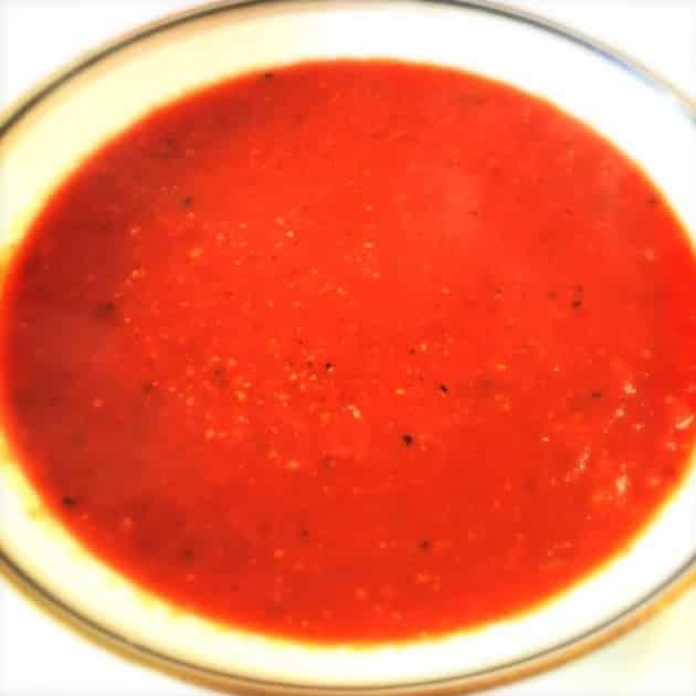 Tomatsuppe med peberfrugter
